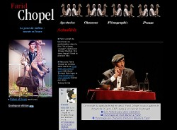 Site internet de Farid Chopel
